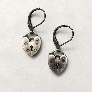 Boutique | Heart Padlock Earrings